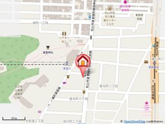 【地図】瓢六ビル