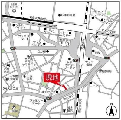 【地図】ラフュージュ大井町