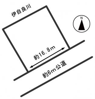 【区画図】54180 岐阜市守口町土地