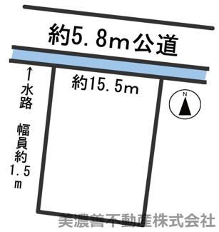 【区画図】54189 岐阜市旦島西町土地