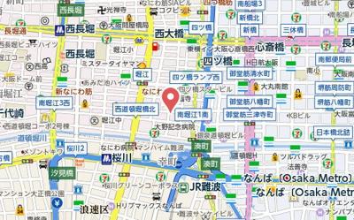 【地図】ゼフェロス南堀江