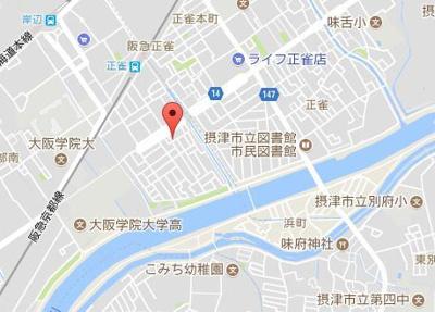 【地図】コミュニティハウス正雀
