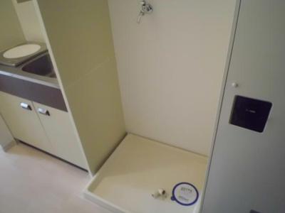 室内洗濯置き場です
