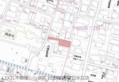 【地図】徳島市下助任町2丁目 土地