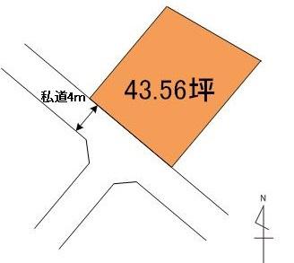 【土地図】笠間市住吉土地