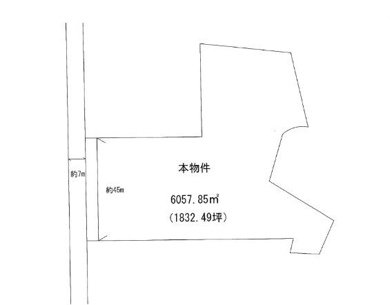 【土地図】米沢市南原新町 土地