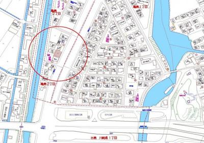【地図】亀島2丁目 売地