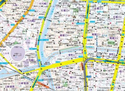 【地図】ラピーヌ南堀江レジデンス