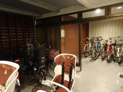 中銀第2東上野マンシオン 駐輪場