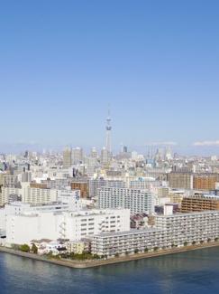 バルコニーから東京スカイツリーが望めます。