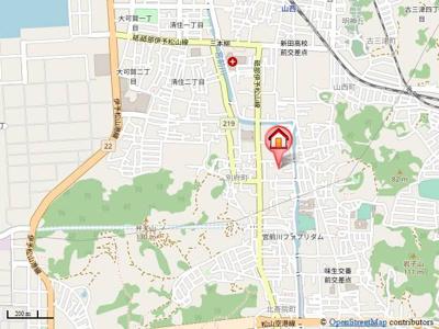 【地図】ハイツプレアリー