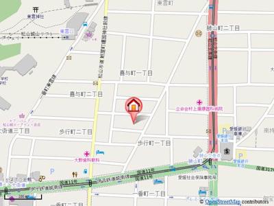 【地図】リューレント歩行町