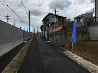 【前面道路含む現地写真】伏見区桃山長岡越中東町 土地