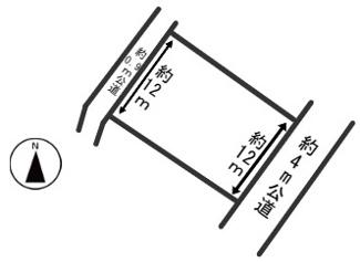 【区画図】54346 岐阜市権現町土地