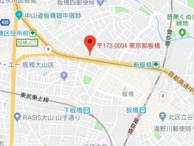 【地図】クレイシア板橋モデルノ