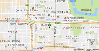 【地図】ウィステリア谷町