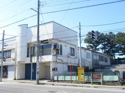 【外観】能代市追分町・中古店舗兼住居