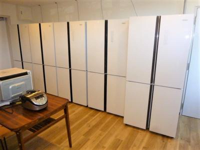 たっぷり収納の冷蔵庫。シェアハウス本厚木