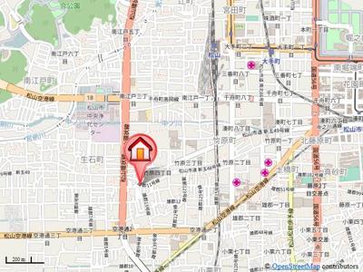 【地図】竹原松元借家