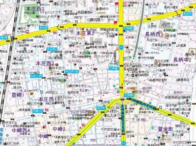 【地図】センチュリー本庄
