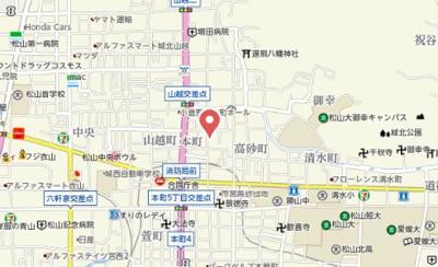 【地図】ラソンブレ木屋町Ⅰ