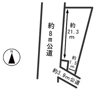 【区画図】54352 羽島郡笠松町北及土地