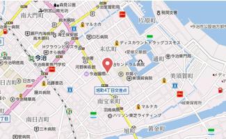 【地図】今治市松本3丁目テナント