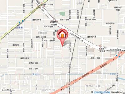 【地図】コーポ松尾