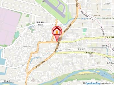 【地図】グリーグ西垣生