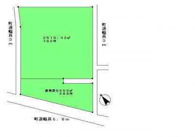 【区画図】道地売地
