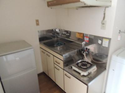 ガスコンロ設置タイプのキッチンです!