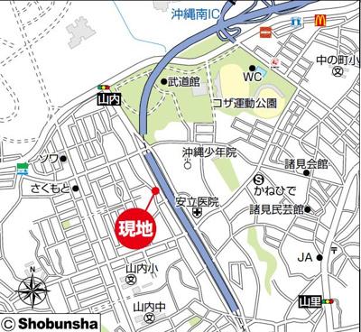 【地図】【新築戸建】沖縄市高原Ⅲ戸建