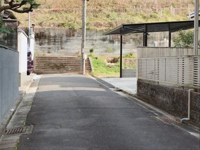 【前面道路含む現地写真】伏見区桃山毛利長門東町 条件付売土地