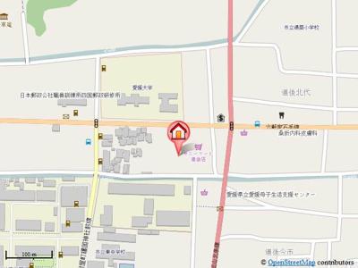 【地図】冨岡マンション