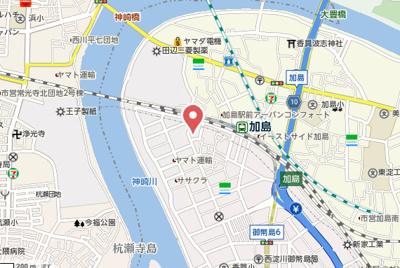 【地図】クレールメゾン