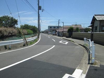 【前面道路含む現地写真】網干区新在家売土地
