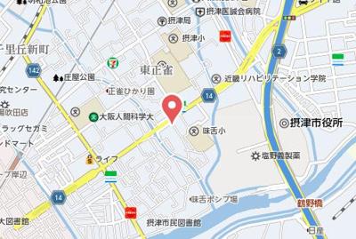 【地図】三島2丁目戸建