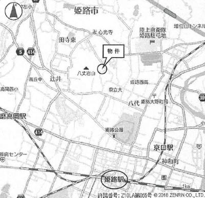 【地図】姫路市北新在家一丁目/売土地