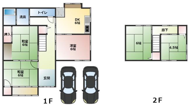 5DKガレージ2台(現地を優先して下さい)