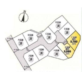 【区画図】藤沢市稲荷1丁目 戸建 F号棟
