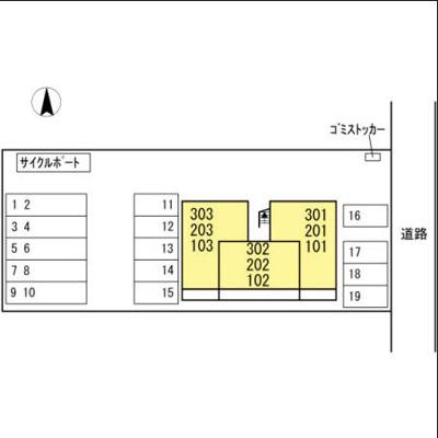 【区画図】ウエストヒルズ萩Ⅰ