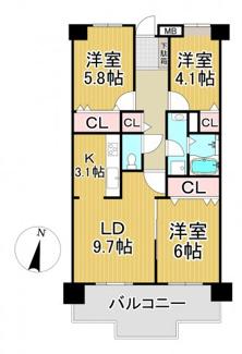 南花屋敷シティハウス 4階
