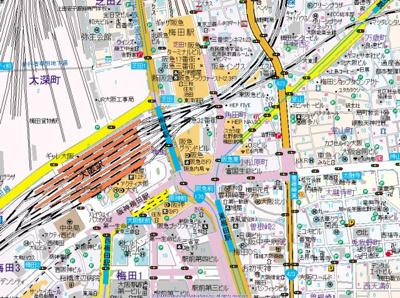 【地図】グランフロント大阪オーナーズタワー