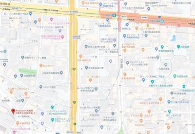 【地図】アドバンス東梅田アクシス