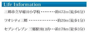 ライフインフォメーション:三郷新築ナビで検索