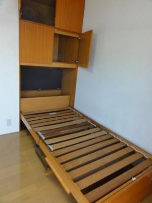上段:収納、下段:収納式ベッド