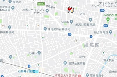 【地図】ヴィアロ谷原レジデンス(58941-310)
