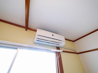 エアコンで年中快適に過ごせます
