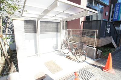 屋根付き駐輪場!