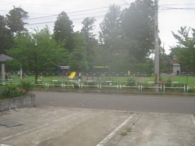 目の前には公園があります